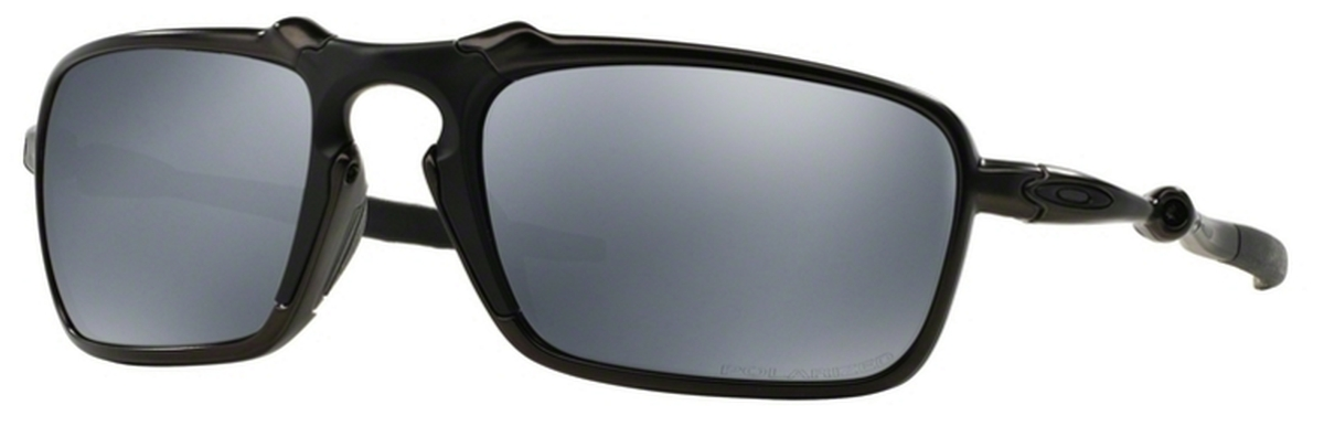 34c83b663c Dark Carbon with Polarized Black Iridium Lenses. Oakley Badman OO6020  Plasma with Sapphire ...