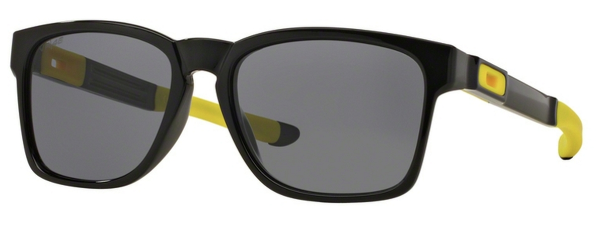 3901664857c3a 17 POLISHED BLACK (VR 46) with Grey Lenses · Oakley Catalyst OO9272 18 Dark  Ink Fade with Chrome Iridium Lenses