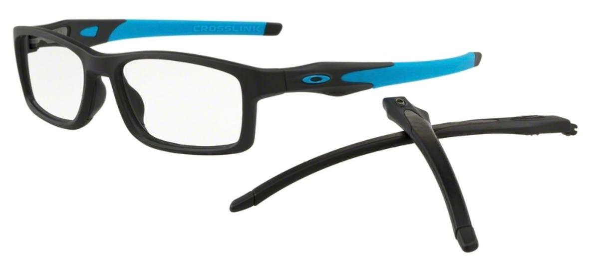 ae41c5ca3109a Oakley Crosslink (A) MNP OX8141 (Asian Fit) Satin Black Blue. Satin  Black Blue