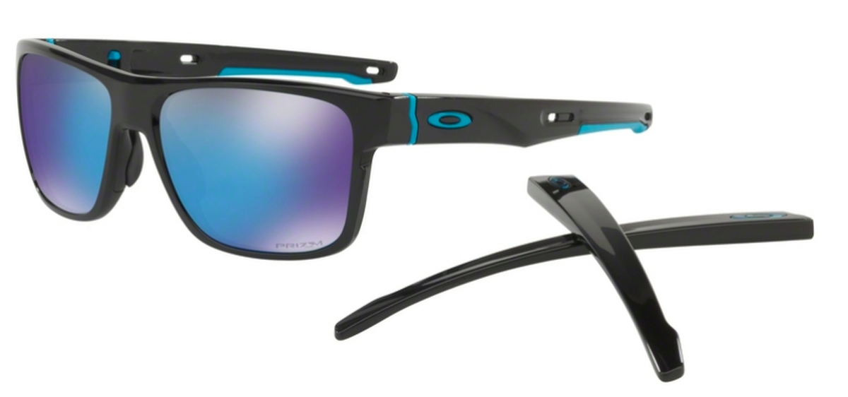 33a3339d9f Oakley CROSSRANGE OO9361 13 Polished Black with Prizm Sapphire Lenses. 13  Polished Black with Prizm Sapphire Lenses