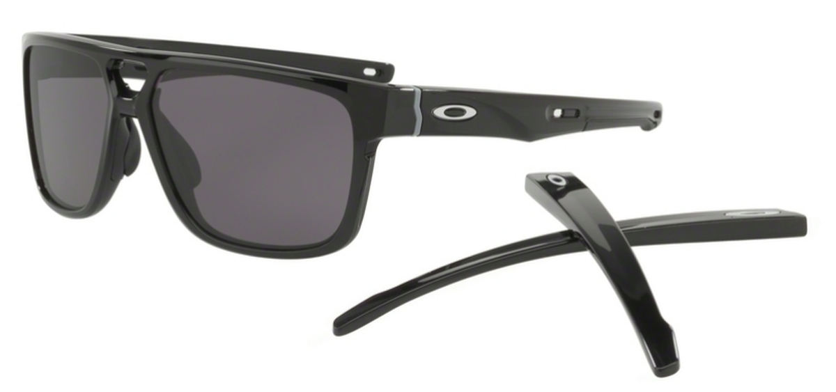 cff38223dc Oakley CROSSRANGE PATCH OO9382 01 Polished Black with Warm Grey Lenses. 01  Polished Black with Warm Grey Lenses. Oakley CROSSRANGE ...