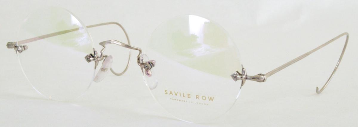 Savile Row Diaflex Round 18Kt, Cable Temples Eyeglasses