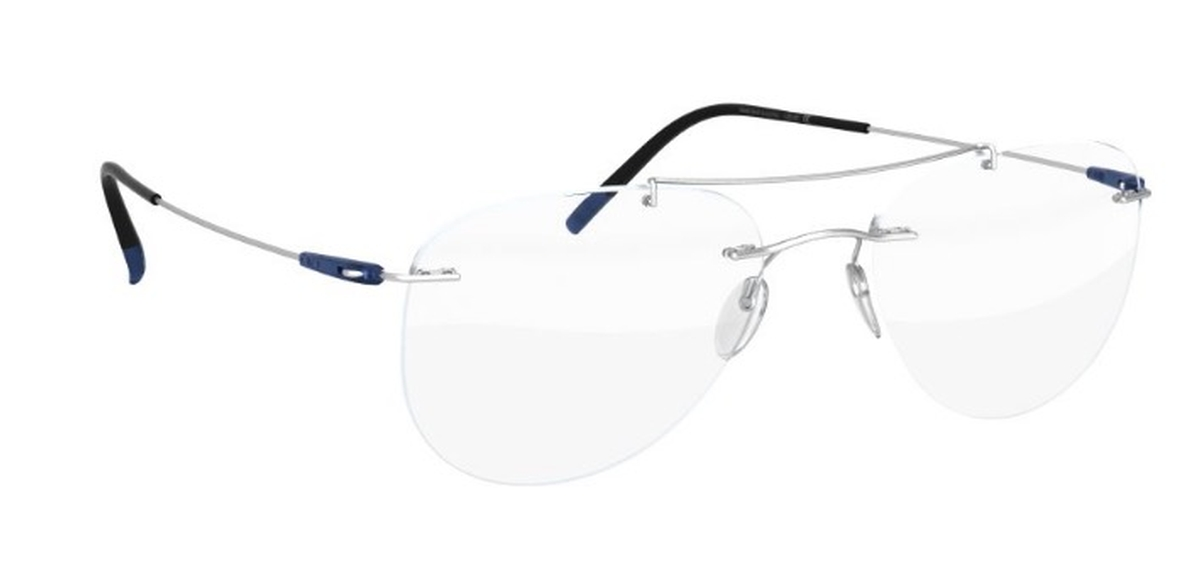 Dynamics Colorwave BG Eyeglasses Silver With Blue