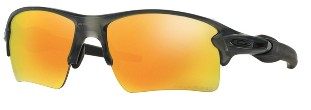 c435803bdd5 10 Matte Grey Smoke with Fire Iridium Polarized Lenses · Oakley Flak 2.0 XL  OO9188 ...