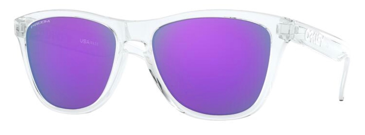 Oakley Frogskins OO 9013 9013D0 Crystal Clear Square Plastic Sunglasses - 55mm