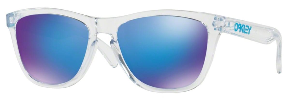 5a1fae6ec9 A6 Polsihed Clear with Sapphire Iridium Lenses. Oakley Frogskins OO9013 B5  Matte Blue Woodgrain w  ...