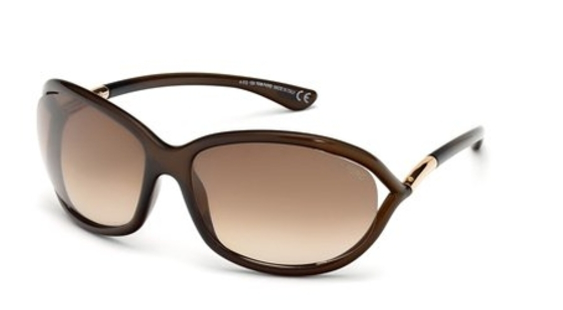 2f65a45347 Crystal Dark Olive with Brown Gradient Lenses · Tom Ford FT008 Jennifer  Dark Brown with Gradient Brown Lenses