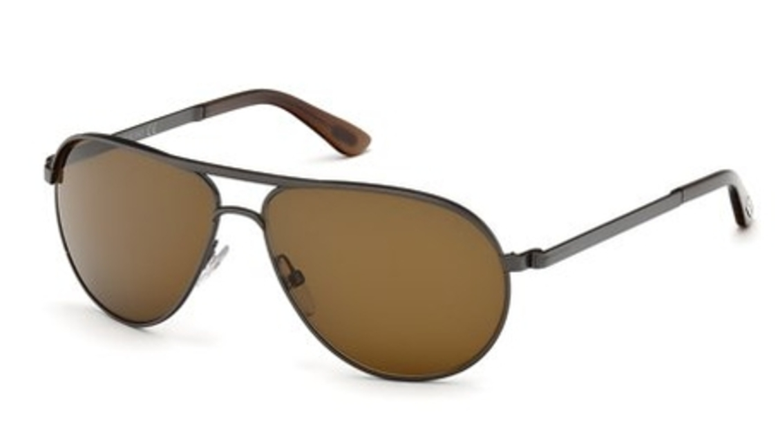 a5299d54d39c9 Matte Gunmetal with Roviex Brown Lenses · Tom Ford FT0144 Marko Shiny  Gunmetal with Gradient Smoke Lenses