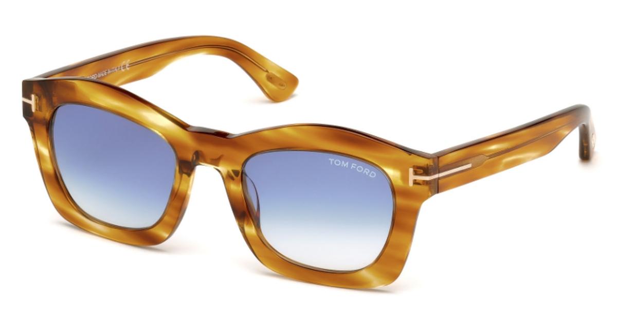 FT 0431 GRETA Sunglasses Yellow/other / Gradient Blue