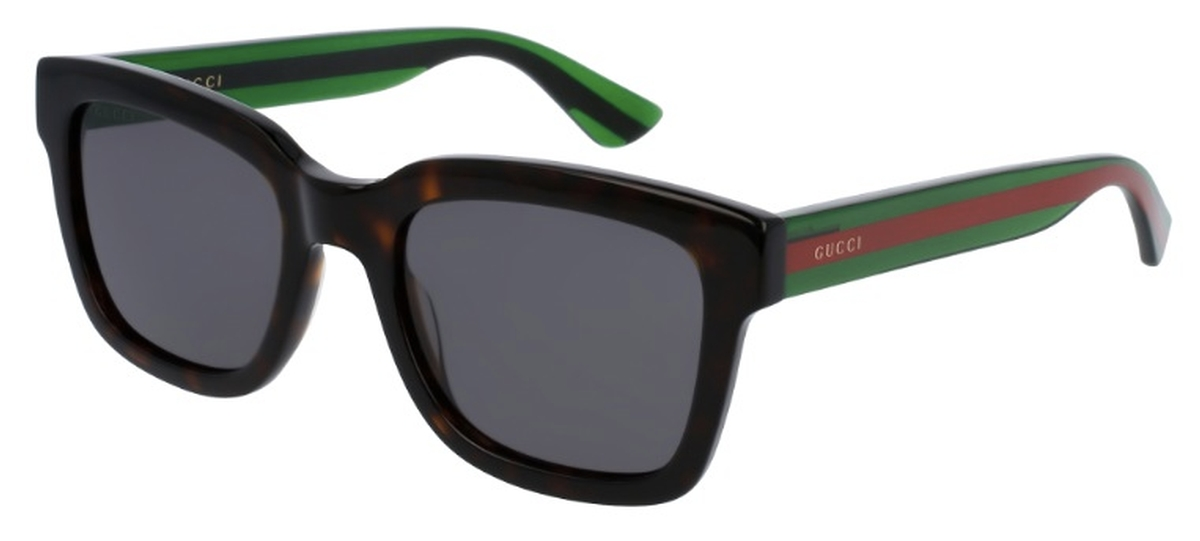 f9d2f9ebc81 Black with Green Red Temples and Grey Lenses