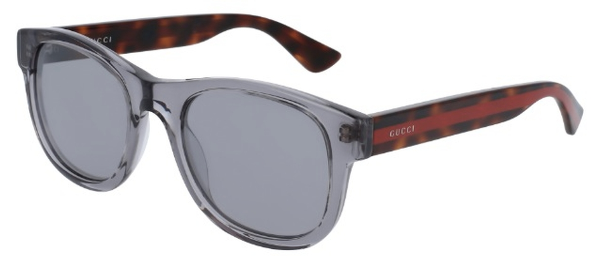 d6838f1416 Gucci GG0003S Transparent Grey with Silver Mirror Lenses. Transparent Grey  with Silver Mirror Lenses