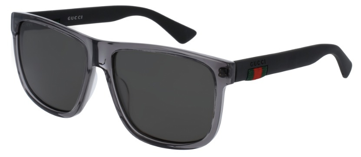 c2f7e722fe6 Crystal Grey with Polarized Grey Lenses. Gucci GG0010S Dark ...