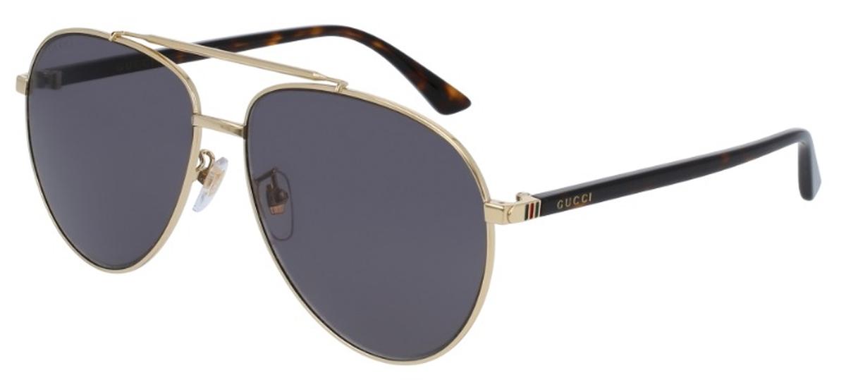 3ea427e781 Gucci GG0043SA Shiny Gold with Grey Lenses. Shiny Gold with Grey Lenses