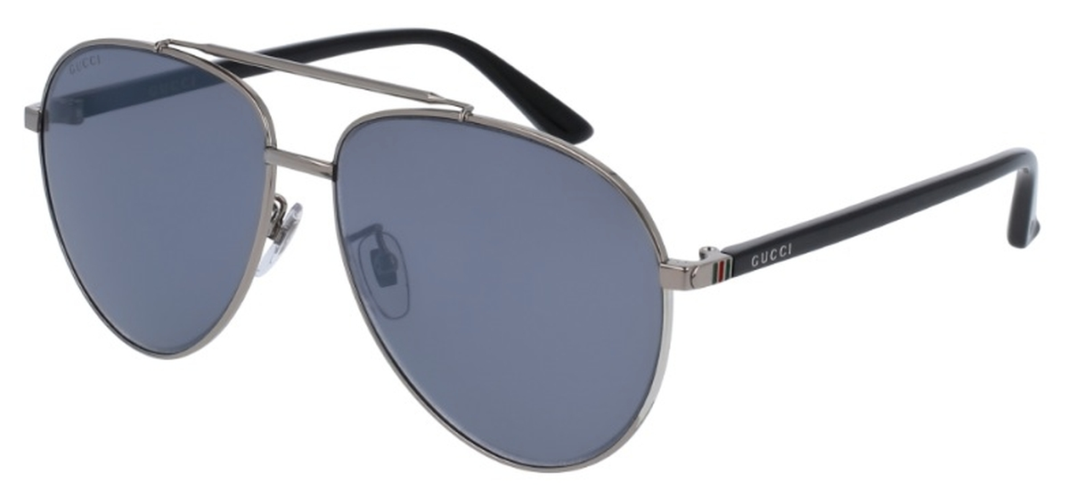 04b14b522ed Gucci GG0043SA Silver with Grey Silver Mirror Lenses. Silver with Grey  Silver Mirror Lenses