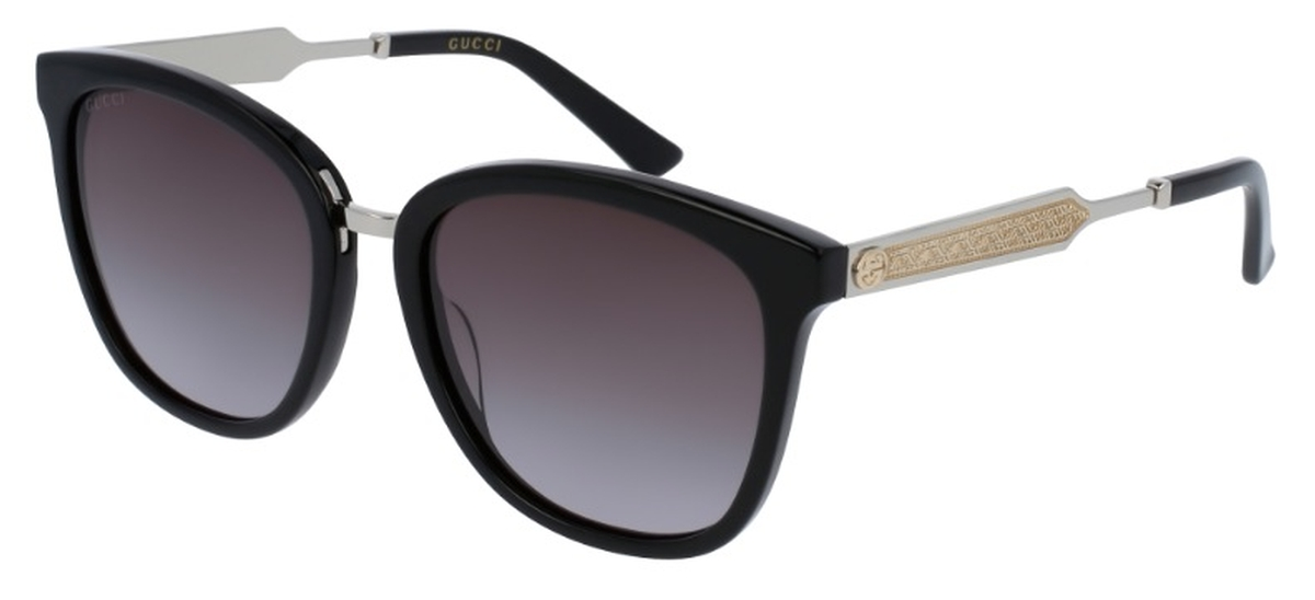 df82a7d5893 Gucci GG0073S Black with Grey Gradient Lenses. Black with Grey Gradient  Lenses. Gucci ...