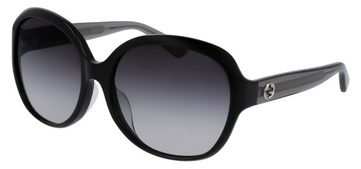 5344c5acb0 Gucci GG0080SK Black with Grey Gradient Lenses. Black with Grey Gradient  Lenses. Gucci ...