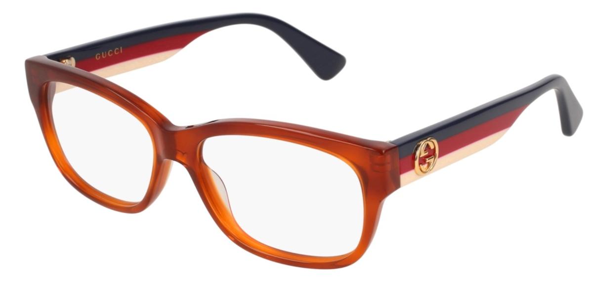 GG 0168O Eyeglasses Red Havana