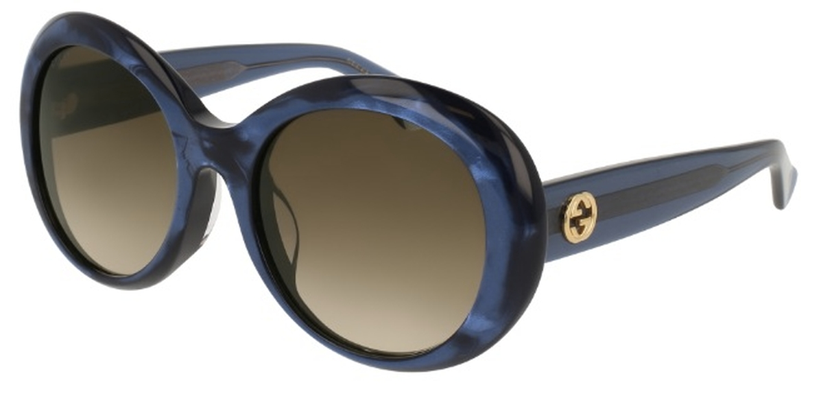 06560c108738 Blue with Brown Gradient Lenses · Gucci GG139SA Havana with Green Gradient  Lenses