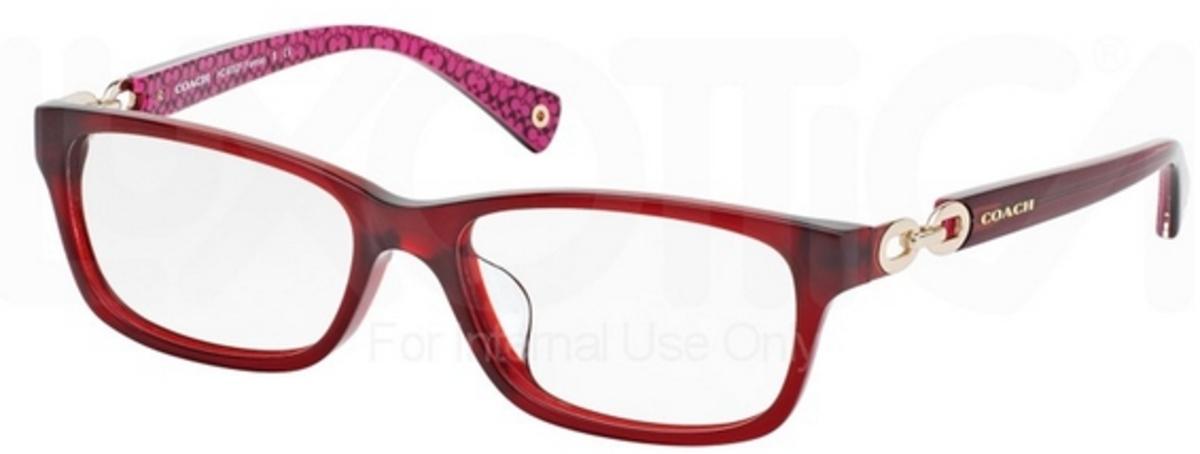Coach Eyeglass Frames Burgundy : Coach HC6052F FANNIE Eyeglasses Frames