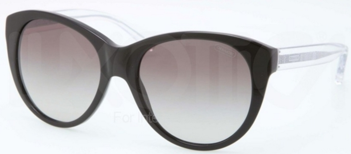 c6836f440a4 Coach HC8064 L060 AUDREY Black w  Grey Gradient Lenses. Black w  Grey  Gradient Lenses. Coach HC8064 L060 AUDREY ...