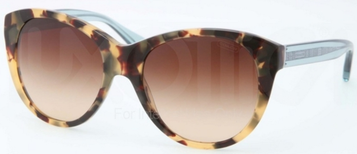 96733ec5c3c Coach HC8064 L060 AUDREY Dark Vintage Tortoise w  Brown Gradient Lenses.  Dark Vintage Tortoise w  Brown Gradient Lenses