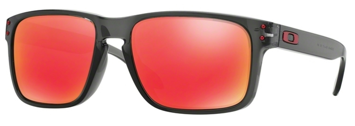 fdc124db262037 04 Grey Smoke with Ruby Iridium Lenses. Oakley Holbrook (Asian Fit) ...