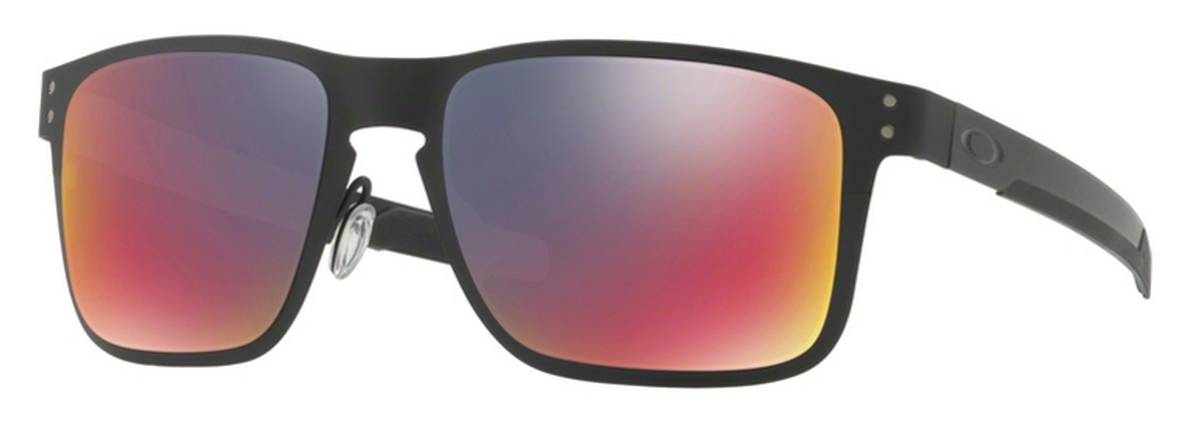 f020de640d 02 Matte Black with +Red Iridium Lenses · Oakley HOLBROOK METAL OO4123 03  Satin Chrome with Black Iridium Lenses