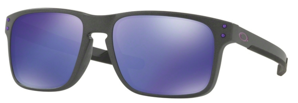 72647d59c5 02 Steel with Violet Iridium Lenses. Oakley Holbrook Mix OO9384 03 Matte  Translucent Blue with Prizm Sapphire Lenses