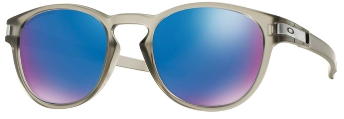 7f2ffb9504 08 Matte Grey Ink with Polarized Sapphire Iridium Lenses · Oakley Latch  OO9265 15 Matte ...