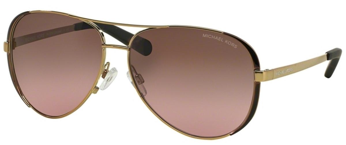 efcd9eceaf9a8 Gold DK Chocolate Brown w  Brown Rose Gradient Lenses · Michael Kors MK5004  CHELSEA ...