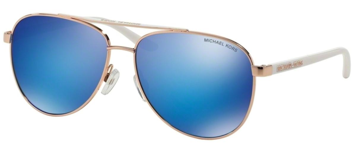 00d147394b6c Michael Kors MK5007 HVAR Rose Gold White w/ Blue Mirror Lenses. Rose Gold  White w/ Blue Mirror Lenses