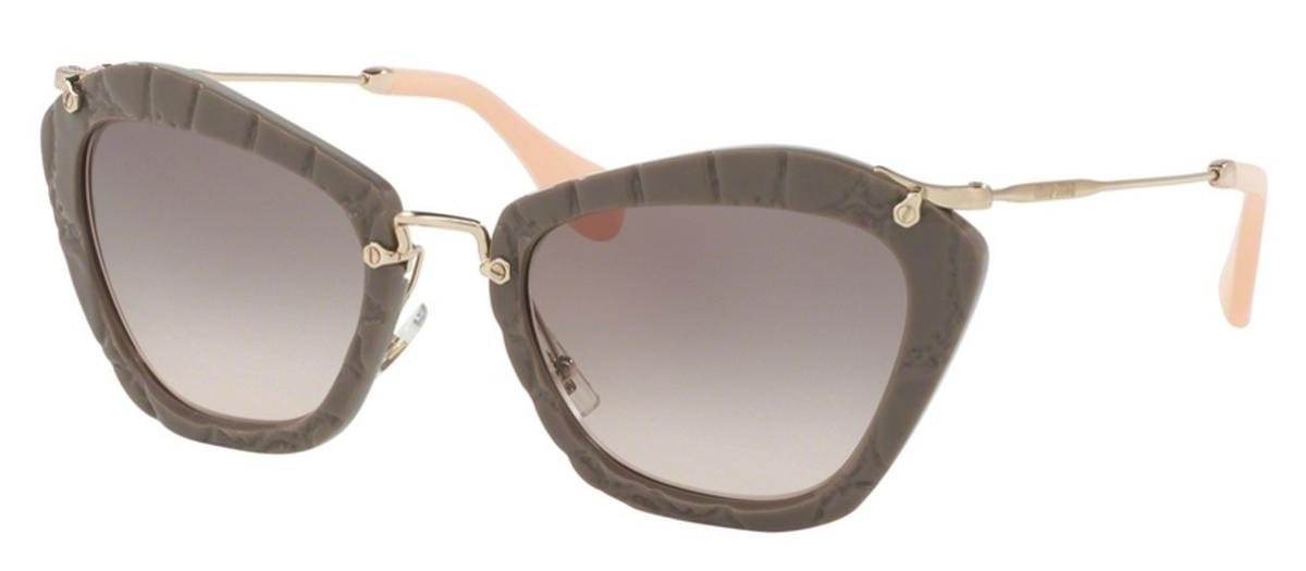 186be21aea8 Beige w  Pink Gradient Grey Lenses · Miu Miu MU 10NS NOIR Black Sand w  Grey  Mirror Rose Gold Lenses
