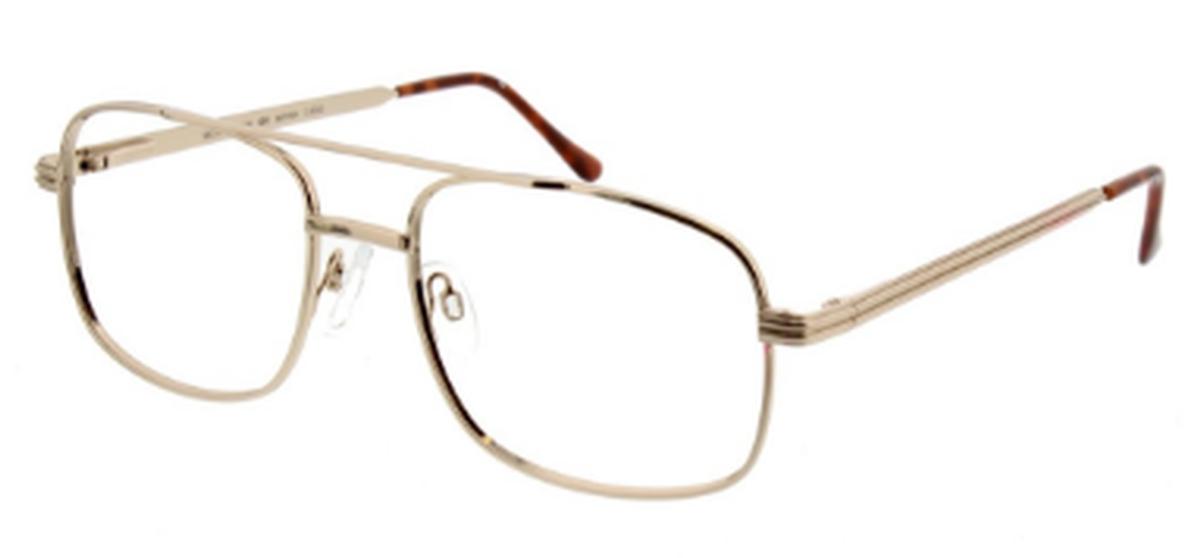 Custom Gold Glasses Frames : ClearVision Nathan Eyeglasses Frames