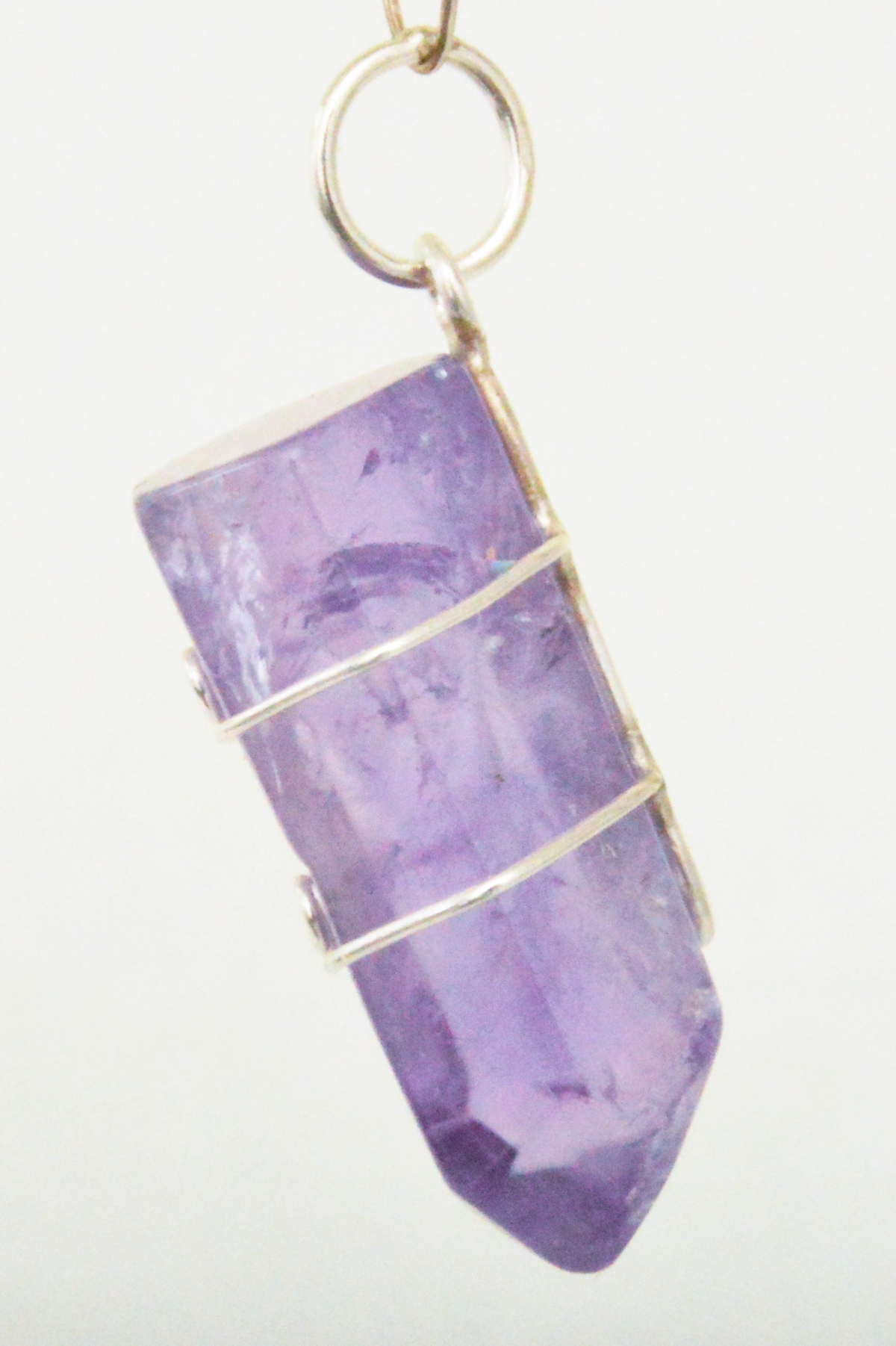 Casa Crystals & Jewelry Pendant, Amethyst Wire Wrap Eyeglasses