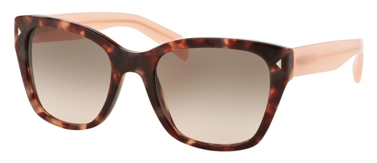 25bb39d9aa61 Prada PR 09SS Spotted Brown Pink with Pink Gradient Grey Lenses. Spotted Brown  Pink with Pink Gradient Grey Lenses