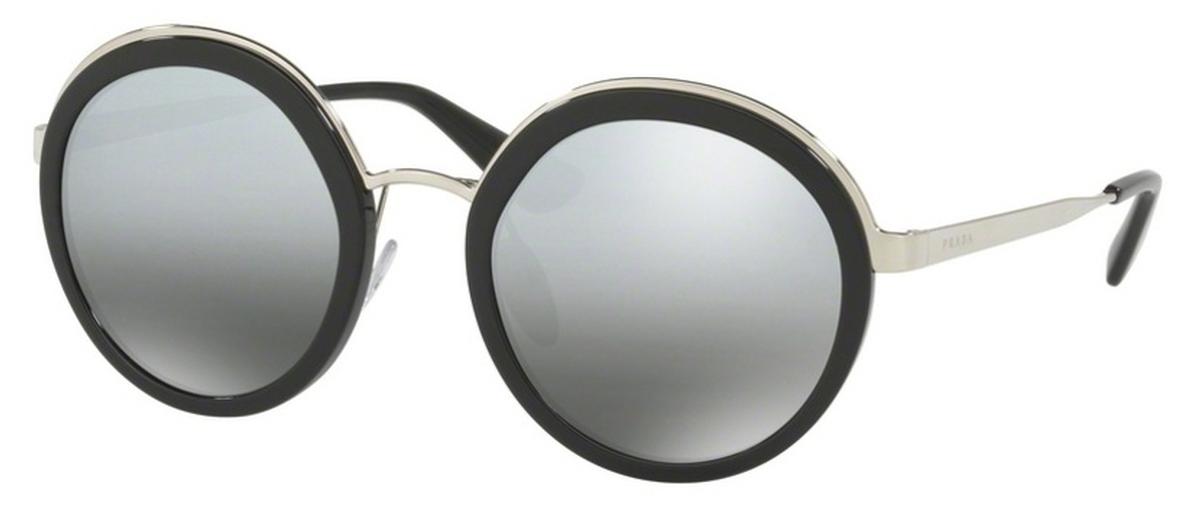 0ecddacf2609 Prada PR 50TS Black with Grey Mirror Silver Gradient Lenses. Black with  Grey Mirror Silver Gradient Lenses