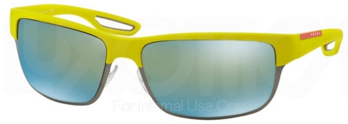 e21a0f646 Prada Sport PS 50QS Yellow Rubber/Matte Gunmetal w/ Emerald Iridium Lenses  TIK4J2. Yellow Rubber/Matte Gunmetal w/ Emerald Iridium Lenses TIK4J2
