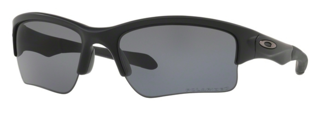Quarter Jacket OO 9200 Sunglasses Matte Black with Grey Polarized Lenses