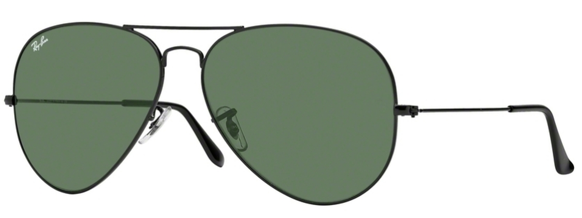 5919b1a9ee2 Ray Ban RB 3026 (Aviator Large Metal II) Black with Crystal Green Lenses  L2821. Black with Crystal Green Lenses L2821