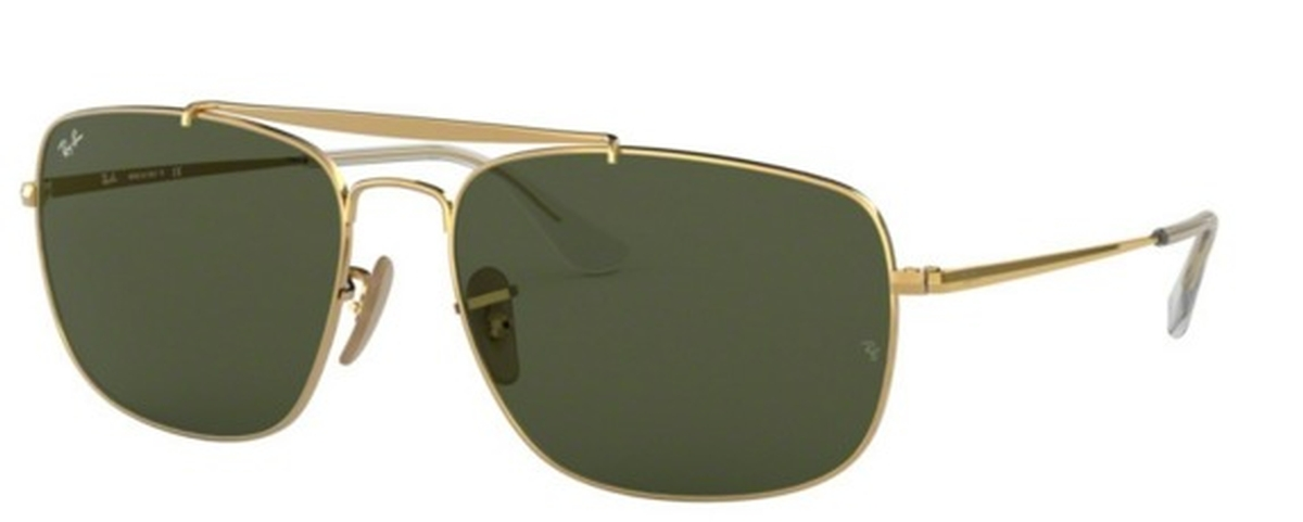 602ba65df8f Ray Ban RB 3560 The Colonel Gold w crystal green lenses. Gold w crystal  green lenses