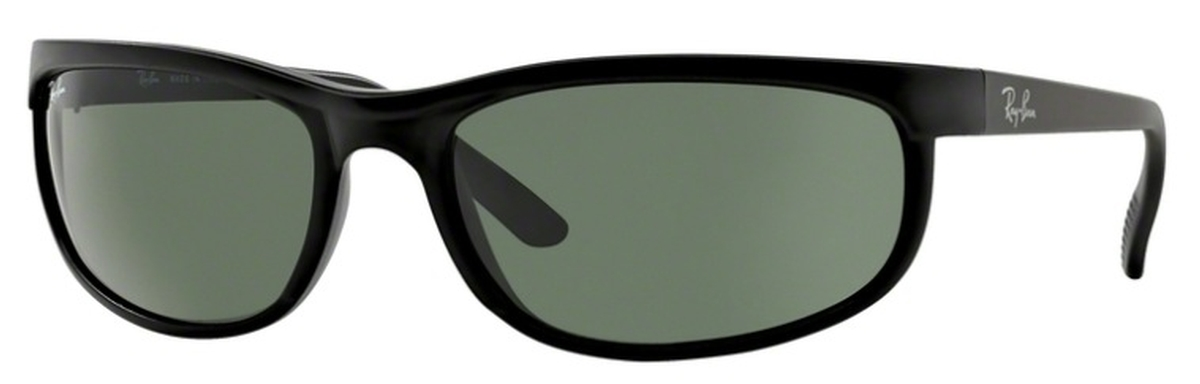 8cda23c48c Ray Ban RB2027 (Predator 2) Black Matte Black with Crystal Green Lenses.  Black Matte Black with Crystal Green Lenses