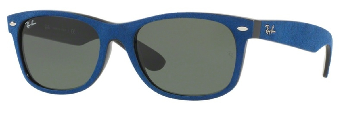 a5471c52c63 Black Top Blue Alcantara with Crystal Green Lenses · Ray Ban RB2132 New  Wayfarer ...