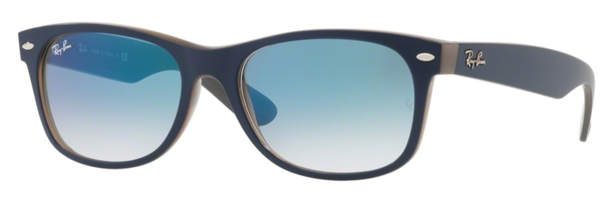 bf192ca99 Matte Blue on Opal Brown with Light Blue Gradient Lenses
