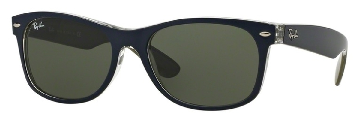 ef11c0d393 Matte Blue Military Green with Crystal Green Lenses · Ray Ban RB2132 New  Wayfarer ...