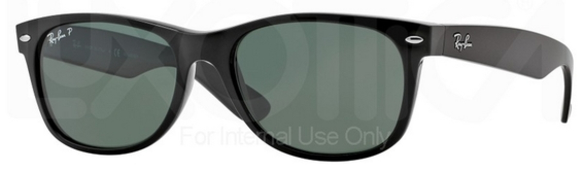 f0db3e7de7d3a Black w  Crystal Green Polarized Lenses 901 58 · Ray Ban RB2132 New  Wayfarer Black with ...