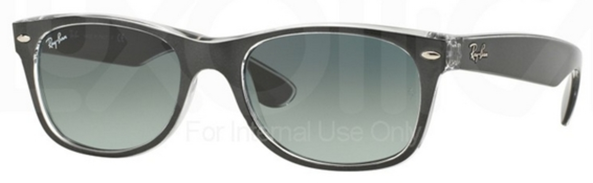 ee58a90a1409f Ray Ban RB2132 New Wayfarer Top Brushed Gunmetal on Trasp. w  Grey Gradient  Dark. Top Brushed Gunmetal on Trasp. w  Grey Gradient Dark Grey Lenses