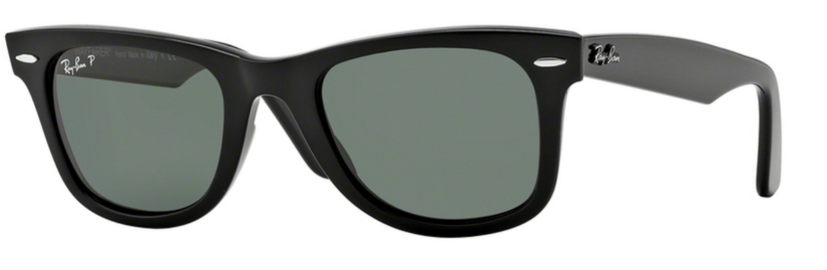 396bd63691b41 Black w  Crystal Green Polarized Lenses. Ray Ban RB2140 Wayfarer Black with Crystal  Green Lenses