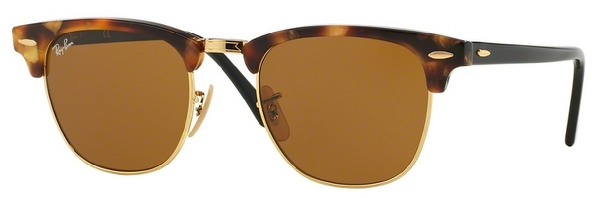 4144ce97b9 Ray Ban RB3016 Clubmaster Spotted Brown Havana w  Brown Lenses. Spotted  Brown Havana w  Brown Lenses