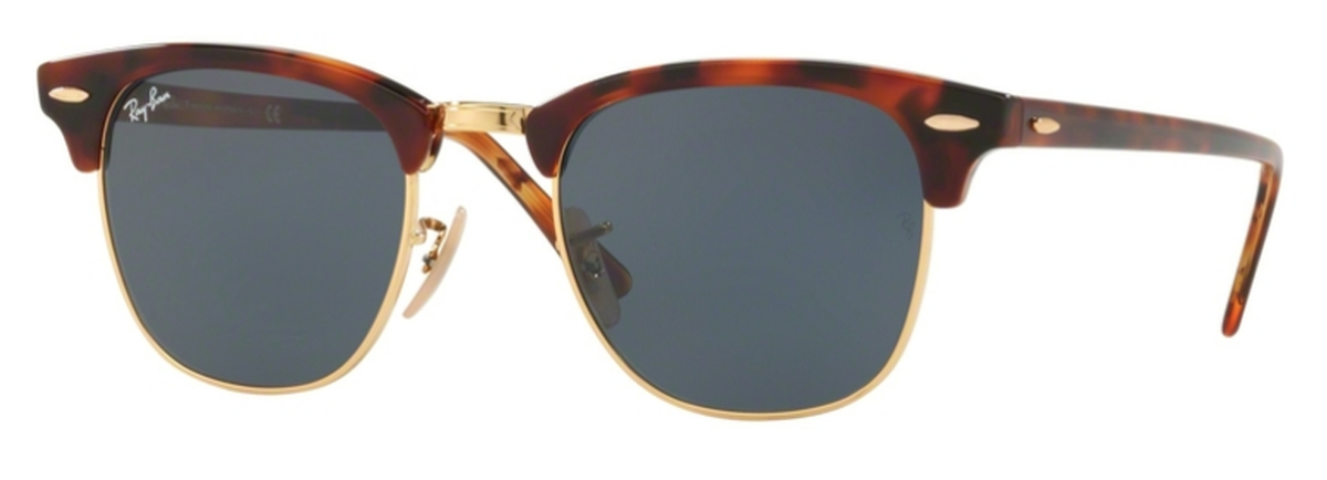 3fc88d9353 Ray Ban RB3016 Clubmaster Top Havana Brown Yellow w  Blue Lenses. Top  Havana Brown Yellow w  Blue Lenses