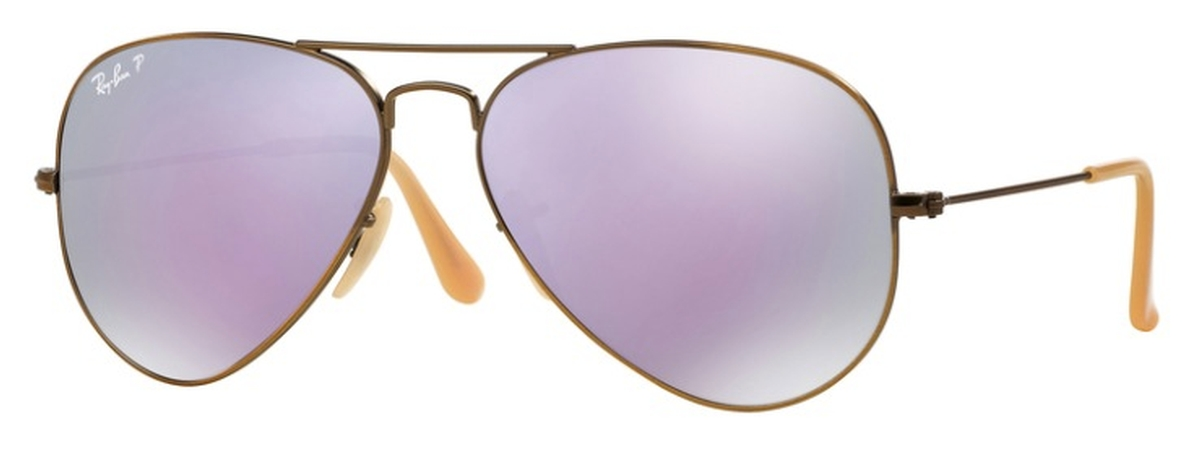 a0fe3da651 Brushed Bronze Demi Shiny with Polarized Grey Mirror Lilac Lenses